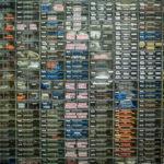 many racks of parts
