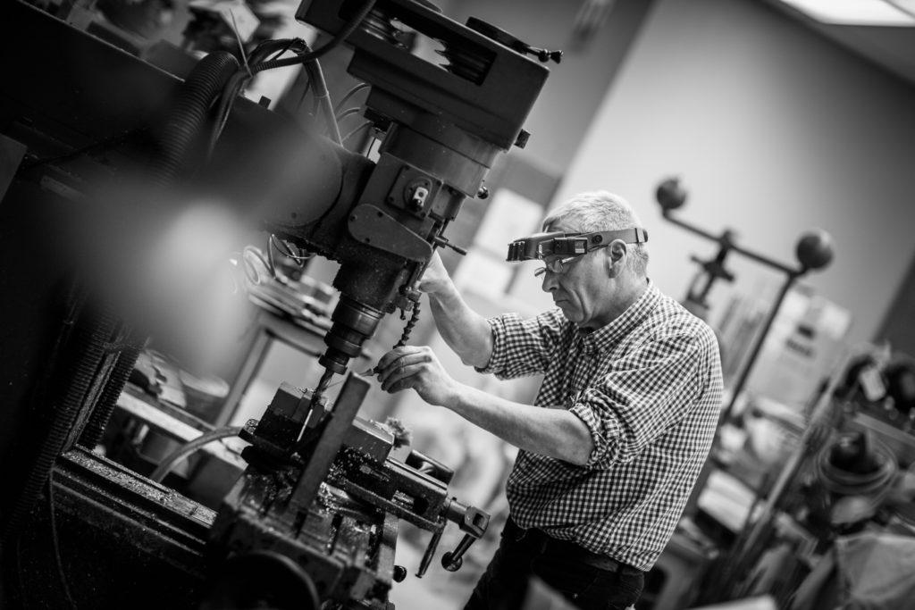 machining equipment on drill press