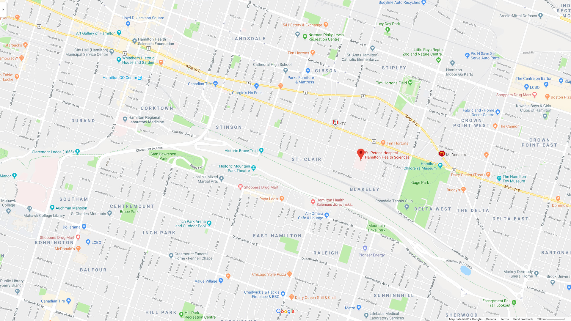 google map to st. peter's hospital