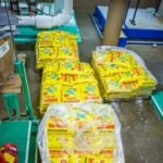 Many bags of water softening salts