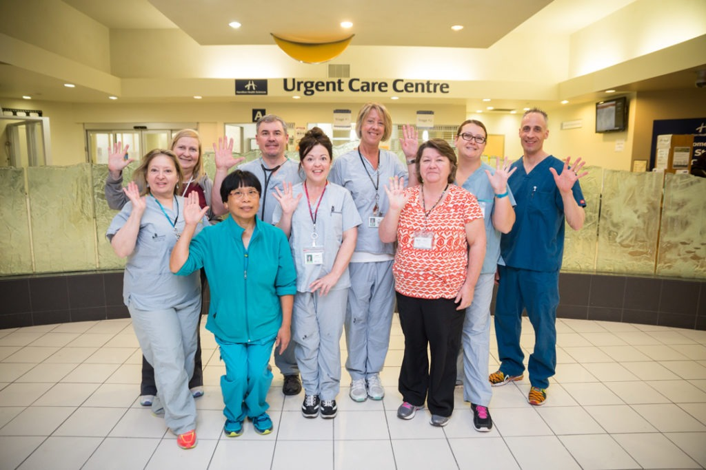 Staff at the Urgent Care Centre