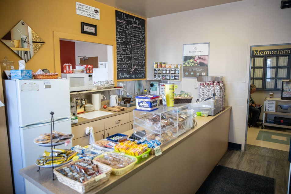 Cafe counter at West Lincol Memorial Hospital cafe