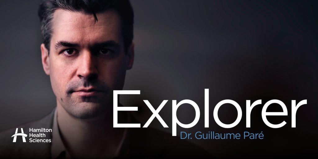 Dr. Guillaume Pare, medical biochemist, explorer