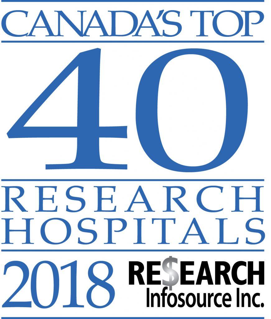 Canada's Top 40 Research Hospitals 2018