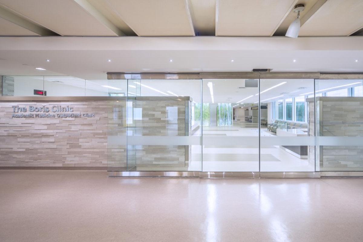 Front entrance to Boris Clinic