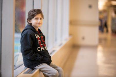Matthew Bueckert at McMaster Children's Hospital