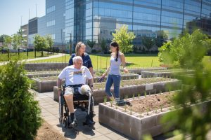 patients at the community garden