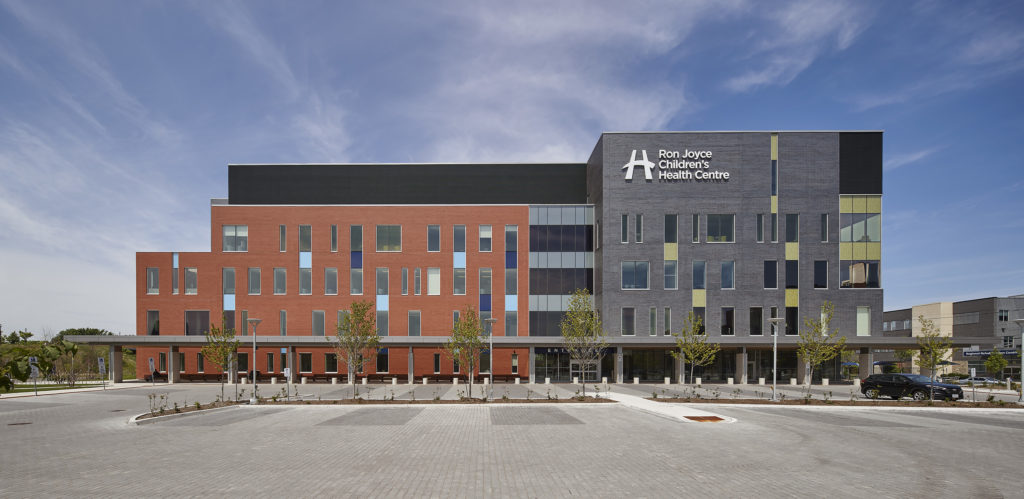 Exterior view of the Ron Joyce Children's Health Centre