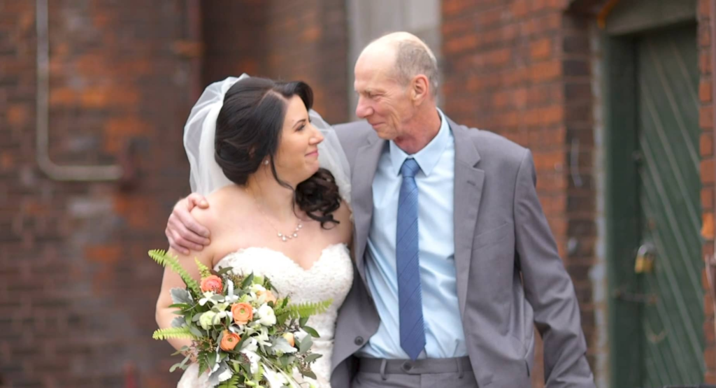 Rainer and his daughter, the bride