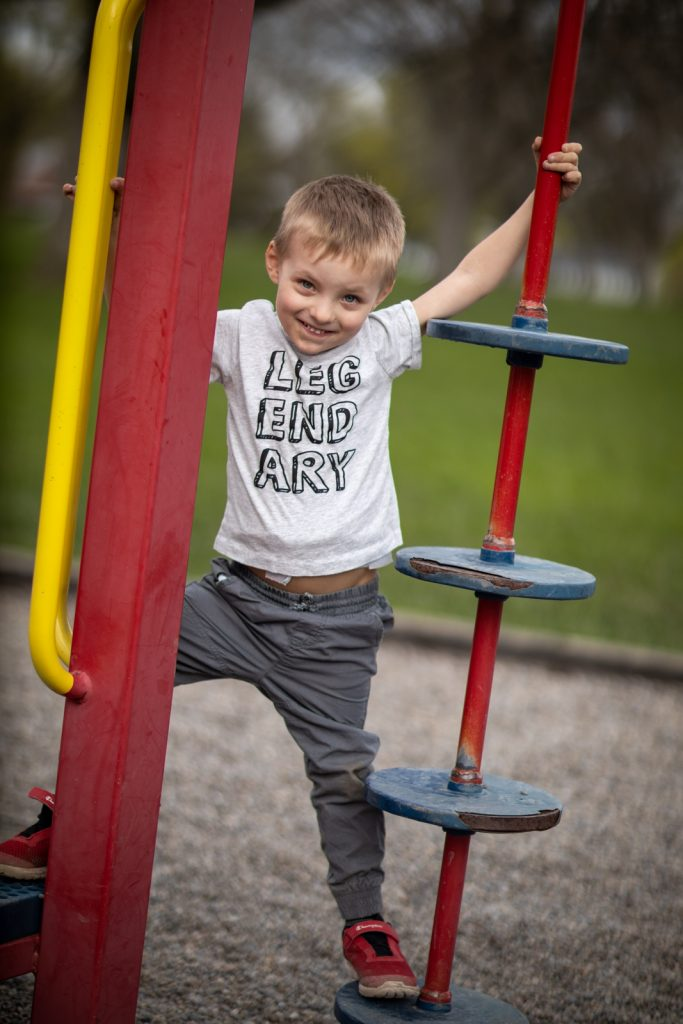 Lucas playing at the playground now that he's recovered