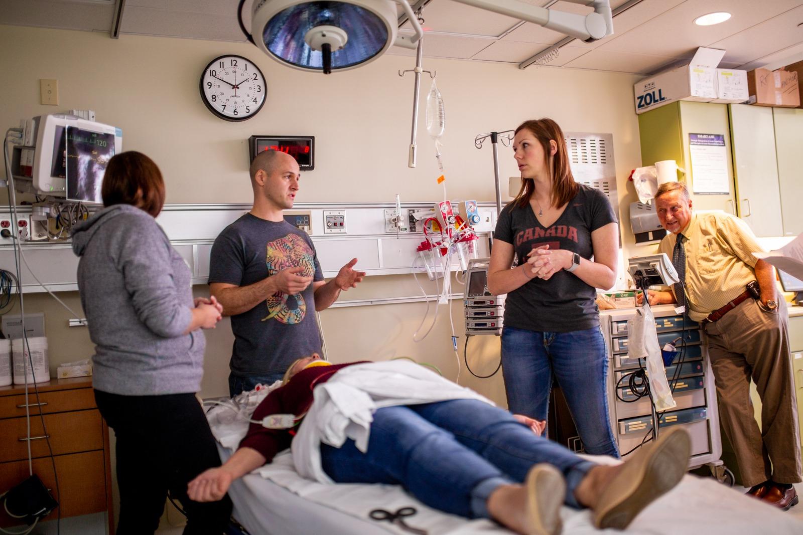 hospital staff discuss their plan