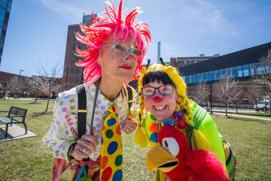 Hospital clowns Dotty and Polly