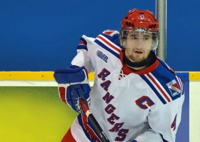 A photo of Ben Fanelli on the ice in his Kitchener Rangers jersey.