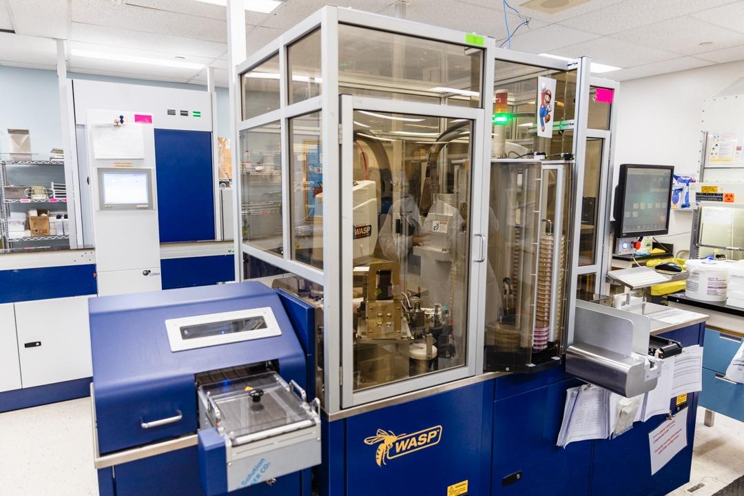 WASP automated lab machine