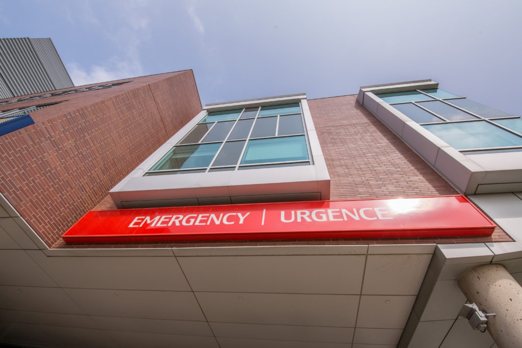 entrance to emergency department