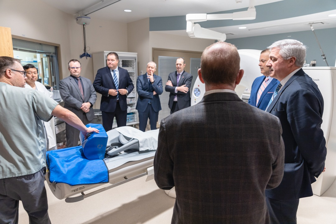 group shot in diagnostic imaging room
