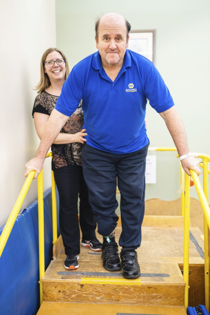 John Spironello and his physiotherpist Michelle Read