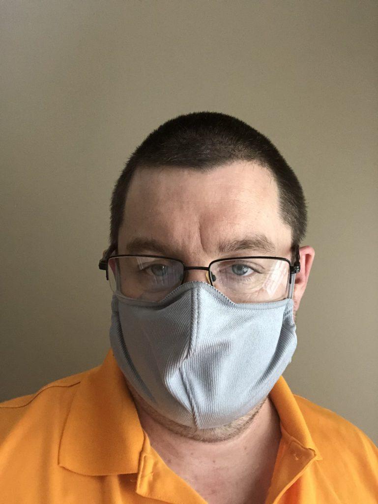 Male wearing cloth mask