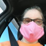 Female wearing cloth mask