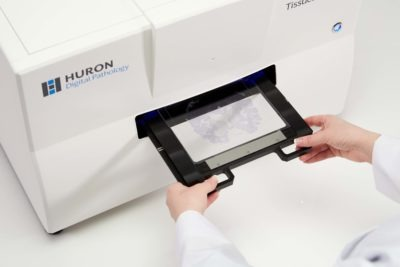 A scanner is used to digitalize glass slides