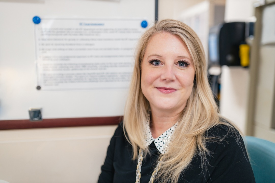 Charge Respiratory Therapist Claudia Poulin