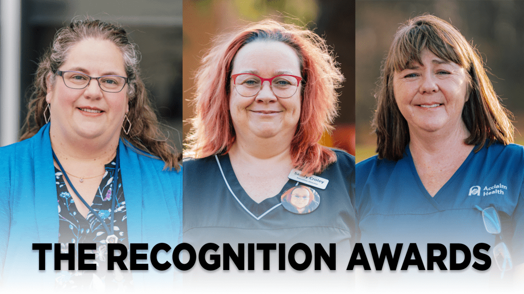 Collage image showing award recipients; Michelle Barclay, Sandy Croley, Sherry Fjell