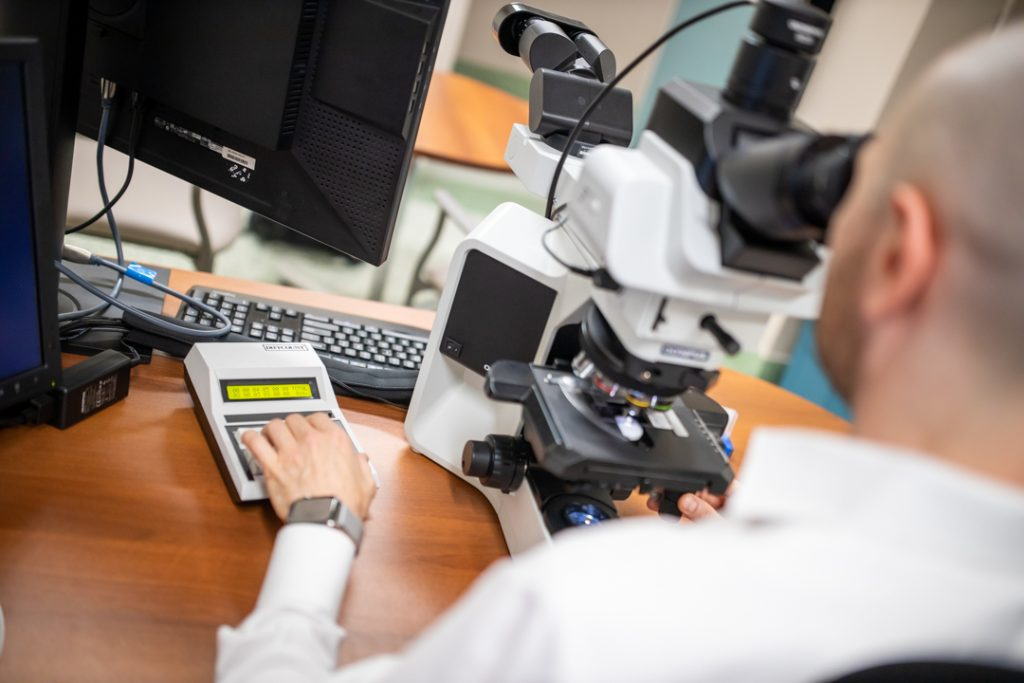 Research photo of microscope