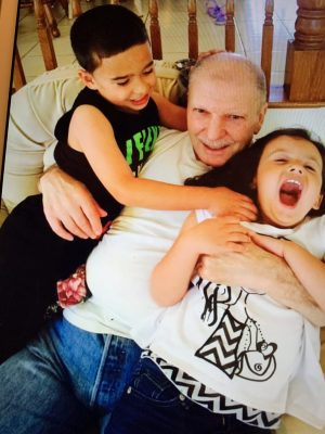 Giorgio and his grandchildren, Nathan and Natalee.