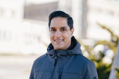 clinical pharmacist Vikas Parihar, smiling