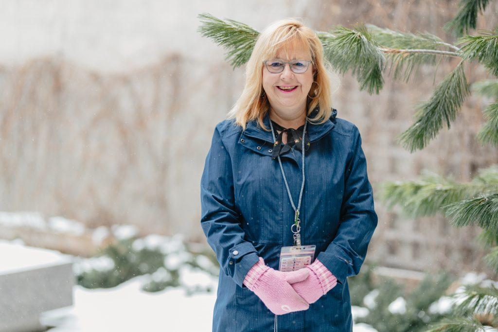 HHS registered dietitian Karen Biggs