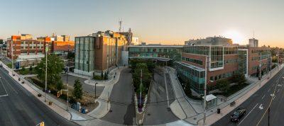 Juravinski Hospital exterior panorama