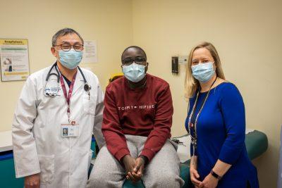Lubinda and his medical team
