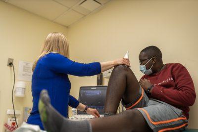 Lubinda getting an ultrasound