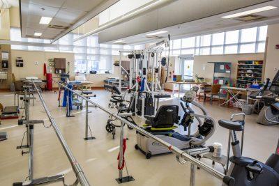Interior of the gym at the Regional Rehabilitation Centre