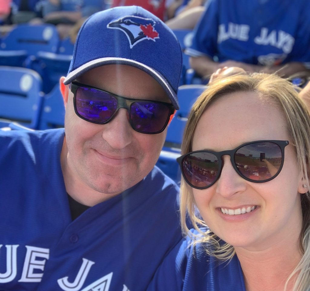 Chris and Emily Kindy at Blue Jays game