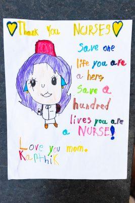 Drawing of a nurse for Nation Nursing Week