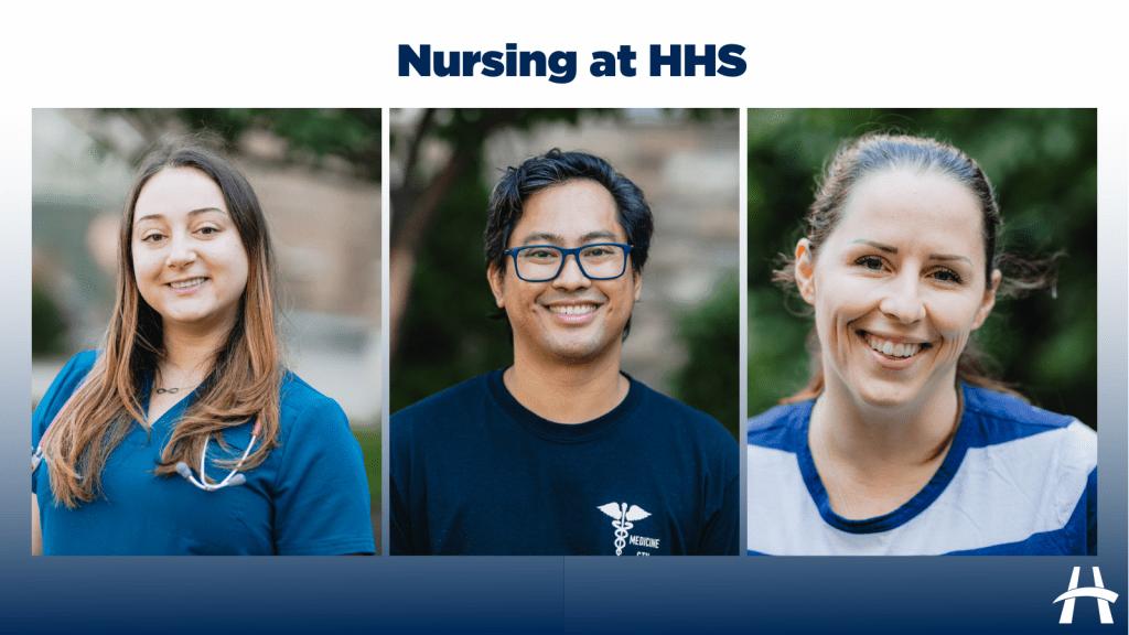Three nurses collage