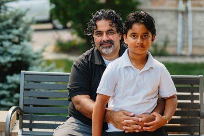 Anoop Chugh and his son