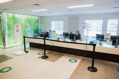 The new in-person desk at the Boris Clinic