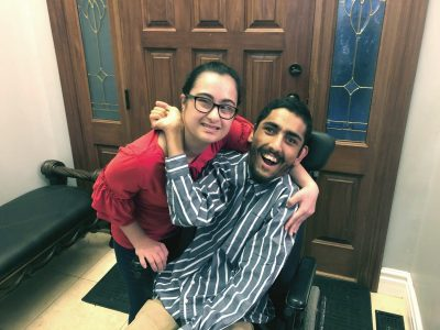 Jupnoor poses for a photo with her brother Sukhman