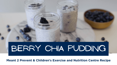 YouTube thumbnail showing the final product of the berry chia pudding recipe