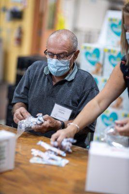 Glenn Shuker sorting items